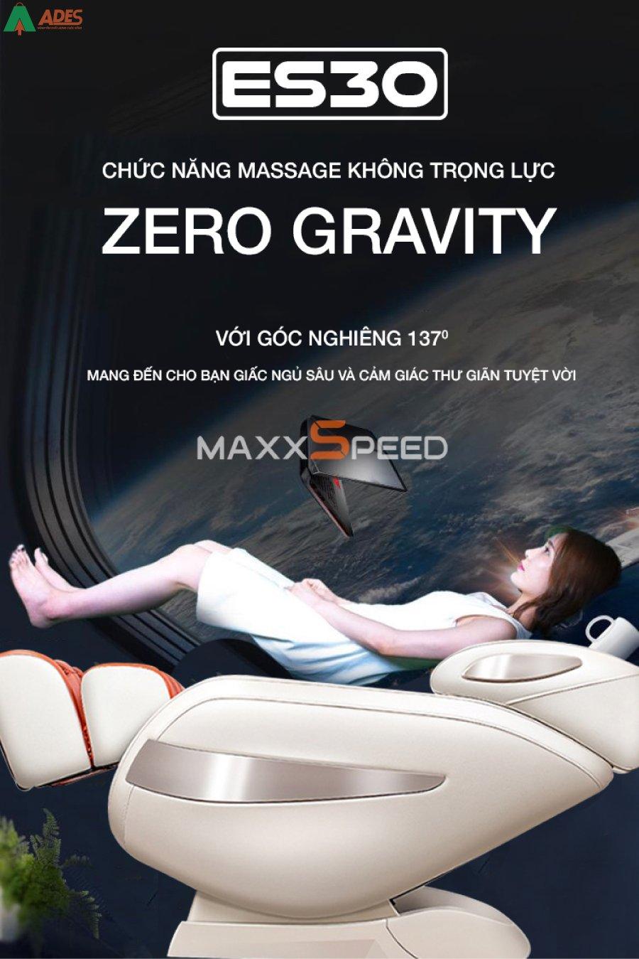Azaki Maxxspeed ES30 co Chuong trinh massage khong trong luc Zero Gravity